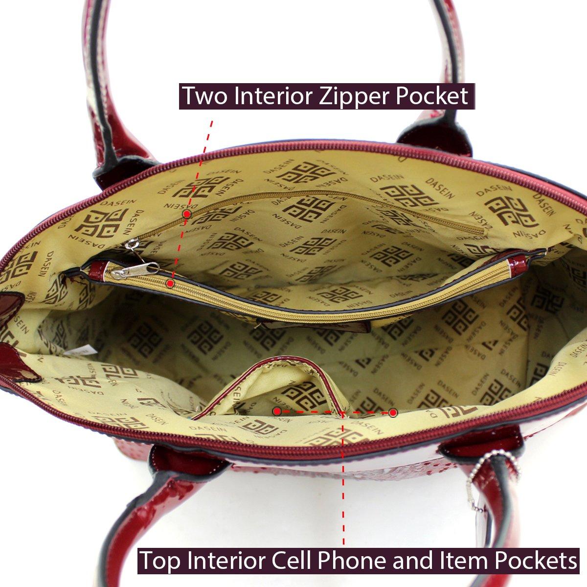 8f3de448fa07 Amazon.com  Dasein Ostrich Large Classic Elegantly structured Satchel Tote  Shoulder Bag Handbag with Removable Shoulder Strap - Black  Shoes