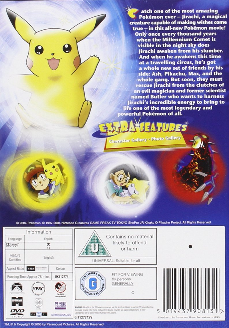 Amazon Com Pokemon Jirachi Wish Maker Dvd Pokemon Movies Tv