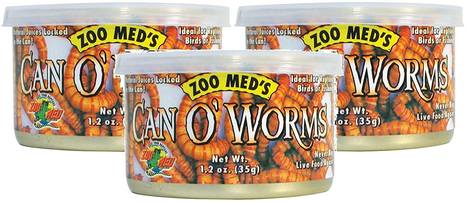 Zoo Med Laboratories Can O Worms, 1.2oz Cans (3 Pack)