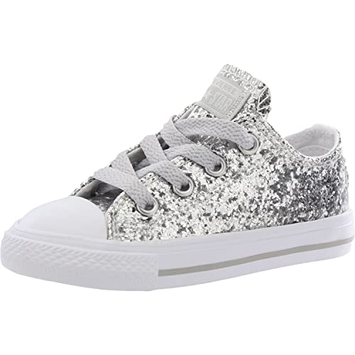 285bdf541b33e7 Converse Chuck Taylor All Star Glitter Pure Silver Synthetic 8 UK Child