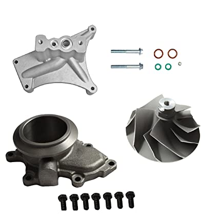 Upgraded Turbo Pedestal EBP Delete Kit W/Compressor Wheel Fit For 7.3L 99.5-