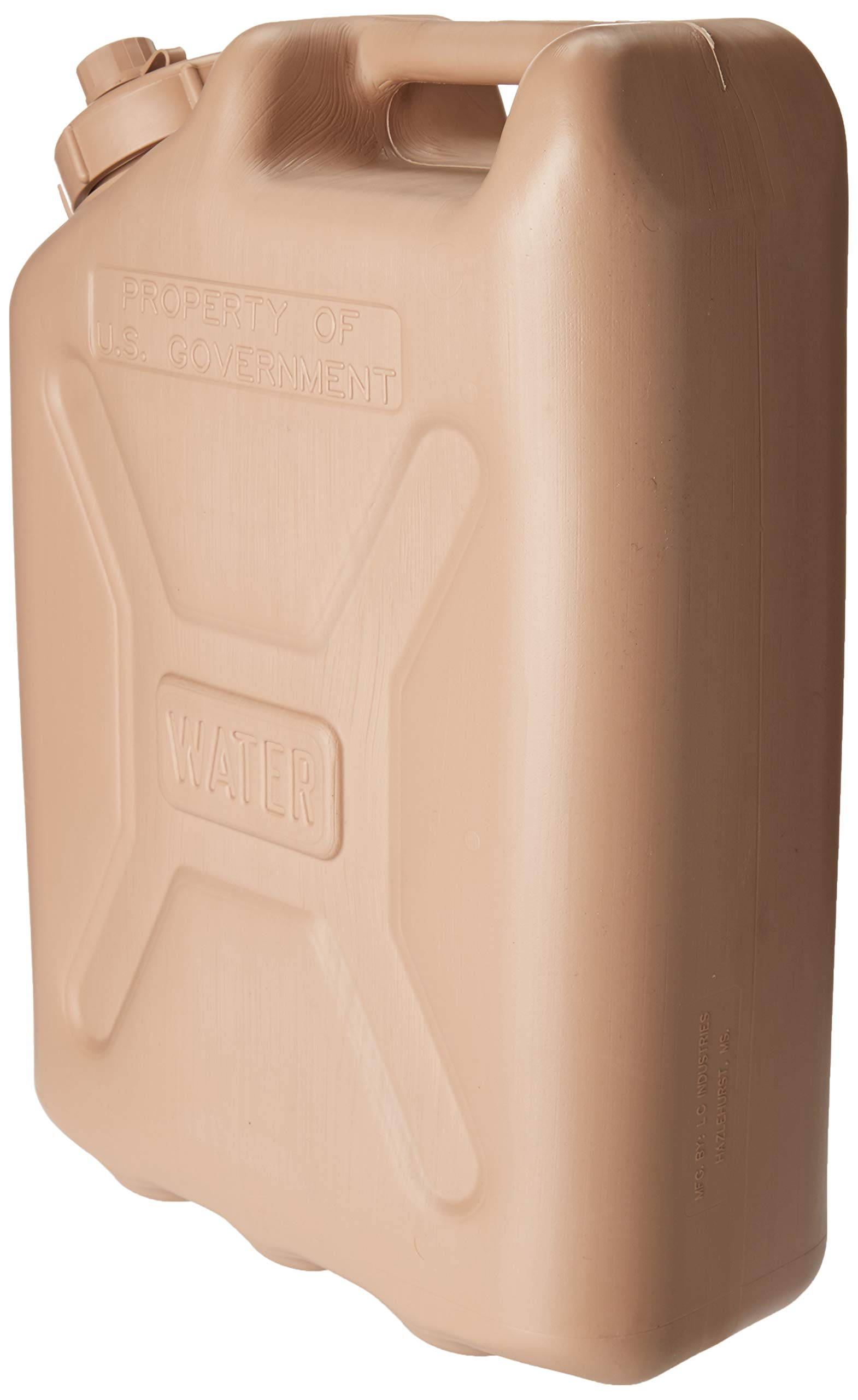 kitchentoolz Premium Military 5 Gallon Water Can - Plastic Jerry Water Can for Camping, Survival and Sports by kitchentoolz (Image #2)
