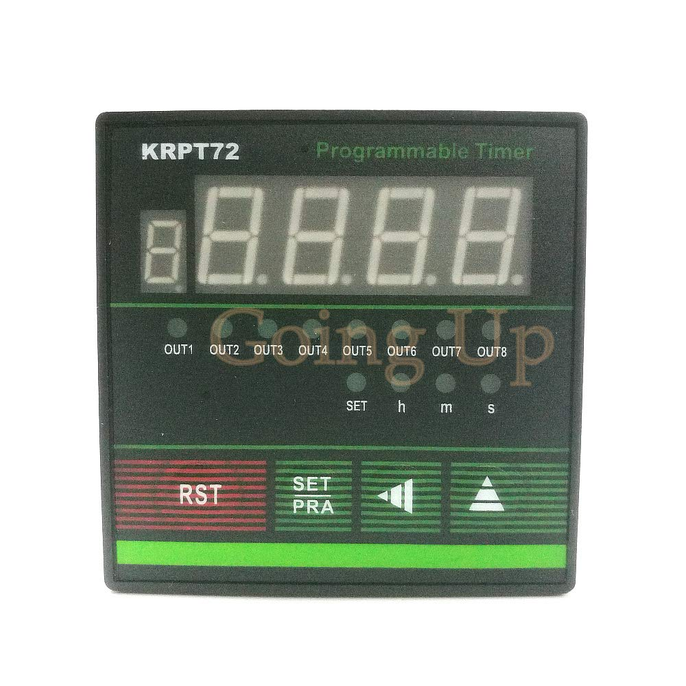 Lysee Eight-way Output Programmable Multichannel Industrial Time Relay/KRPT72 Cyclic Multichannel Time Control