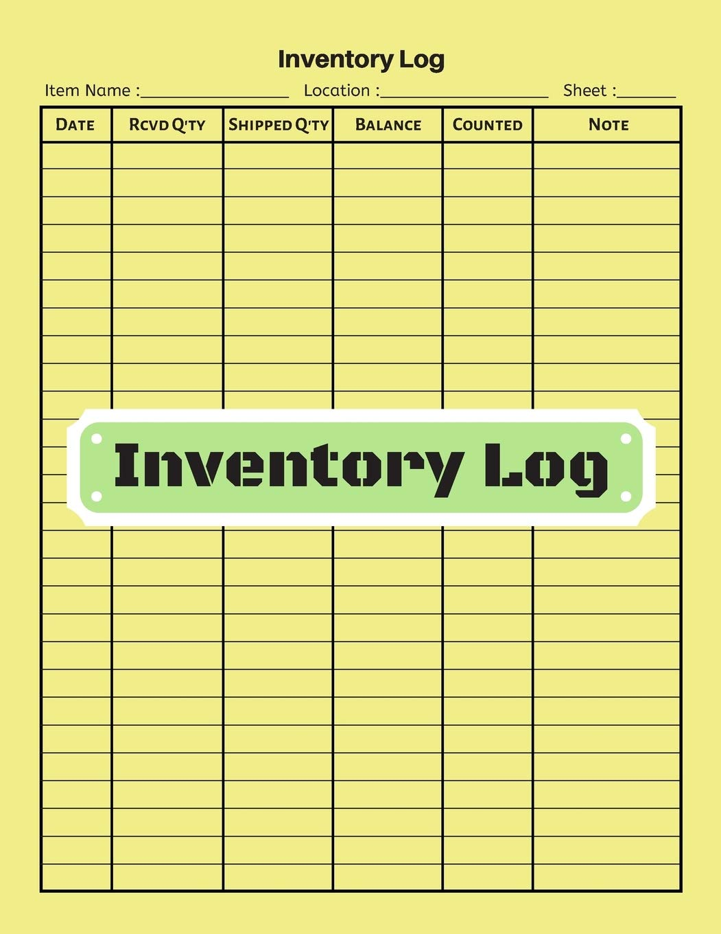 Amazon Inventory Log V 17 Inventory Tracking Book