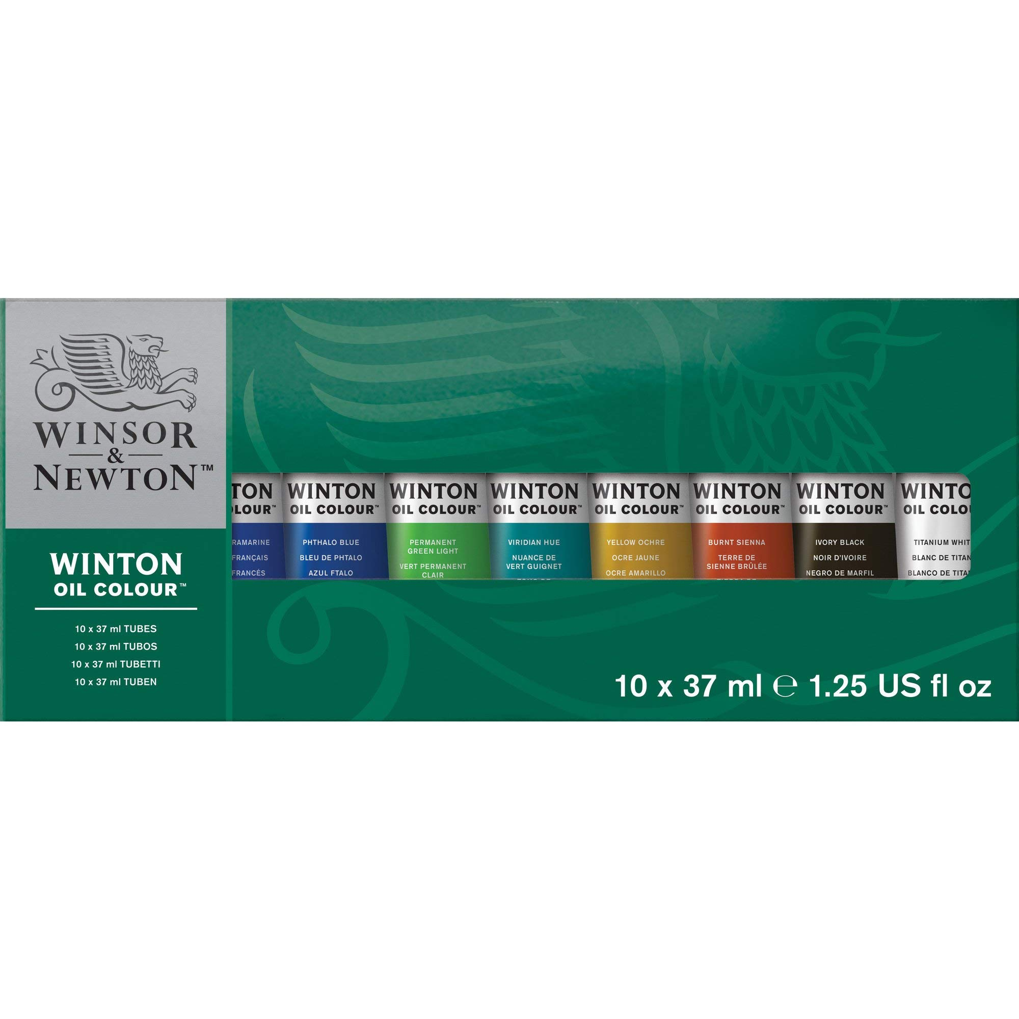 Winsor & Newton Winton Oil Colour Paint Starter Set, Ten 37ml Tubes by Winsor & Newton