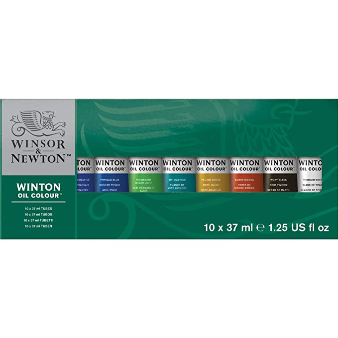 Winsor & Newton Winton Oil Color 10-Tube Set, 37ml Paints at amazon