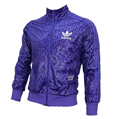 adidas Originals Womens Womens Chile 62 Leopard Track Top in Purple 10