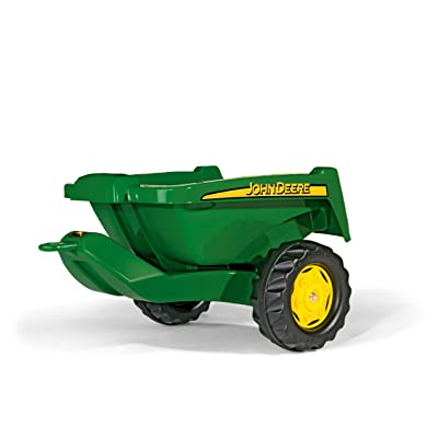rolly toys John Deere Tipper Trailer with Rear Tipping for Pedal Tractor, Youth Ages 3+: Toys & Games