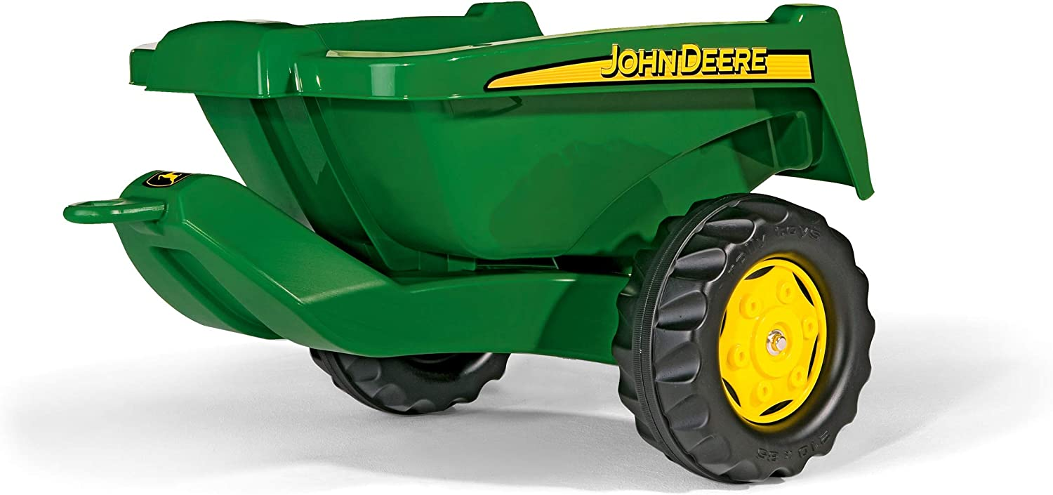 rolly toys John Deere Tipper Trailer with Rear Tipping for Pedal Tractor Youth Ages 3+