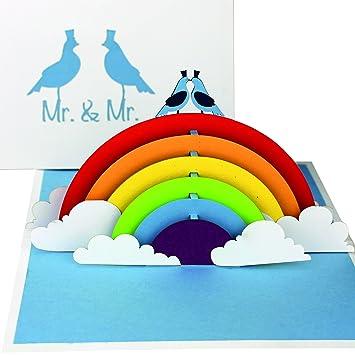 3D Hochzeitskarte U201eGay Wedding   Birds In Loveu201c   Pop Up Karte U201eMr