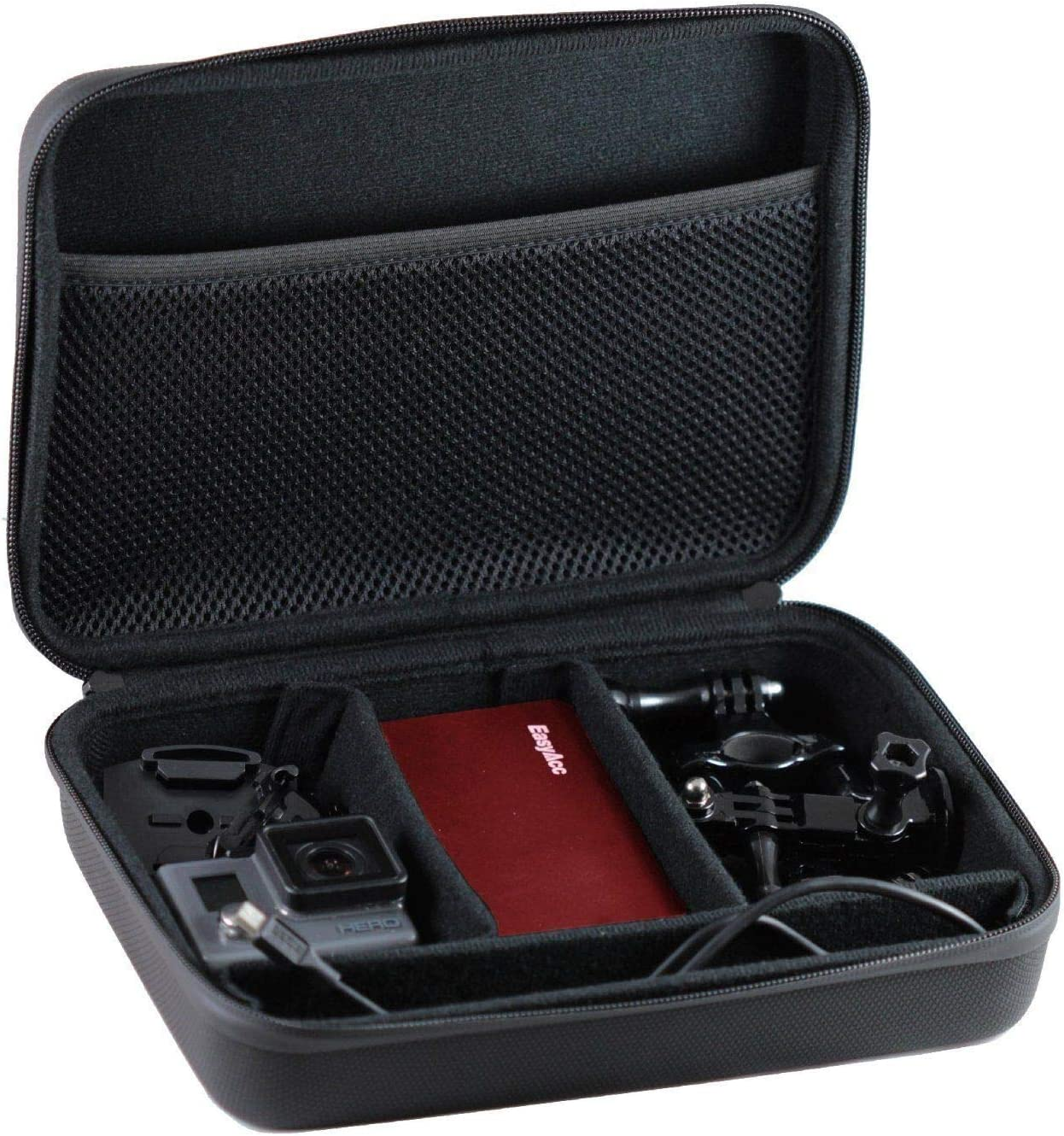 Navitech Black Heavy Duty Rugged Action Camera Hard Case//Cover Compatible with The Ricoh WG-M1 WG-M2