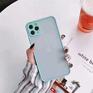 Wkae Colorful Soft TPU Bumper Semi-Transparent cleint Barton Sensation Sand Protection Mobile Phone for iPhone 11 (Color : Blue, Size : iPhone 11)