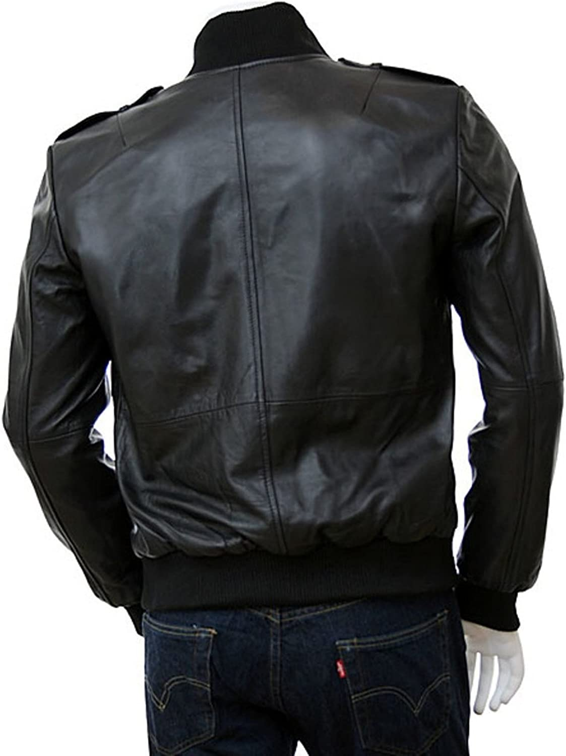 Black Friday Men Motorcycle Cow Leather Jacket Coat Outwear Jackets LFC835 XXL