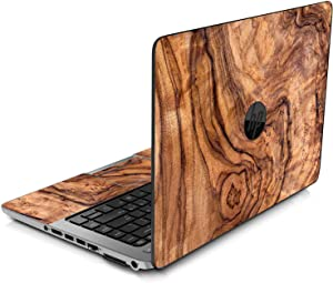 LidStyles Vinyl Protection Skin Kit Decal Sticker Compatible with HP EliteBook 840 G1 and G2 (Olive Wood)