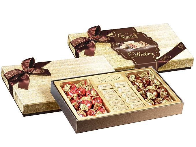 Colección de 8 cajas que contienen bolas de chocolate Gianduiotti y chocolate negro - Regalo de