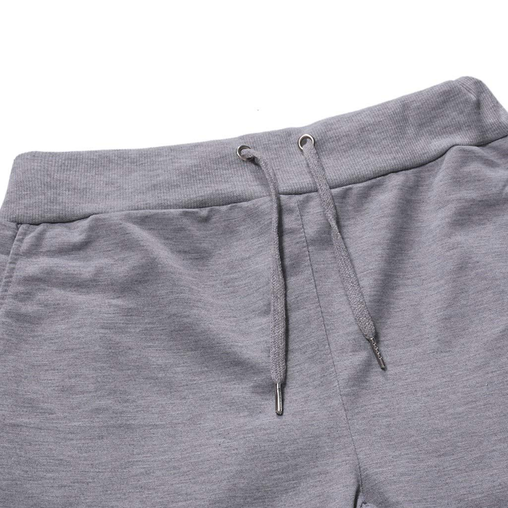 TTOOHHH Mens Sport Stitching Sports Trousers Jogging Fitness Pant Casual Loose Sweatpants Drawstring Pant
