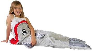 Salvia – Manta de tiburón niños saco de dormir – sueño dentro de un tiburón cola