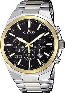 Citizen Men's Black Dial Stainless Steel Band Watch - AN8174-58E