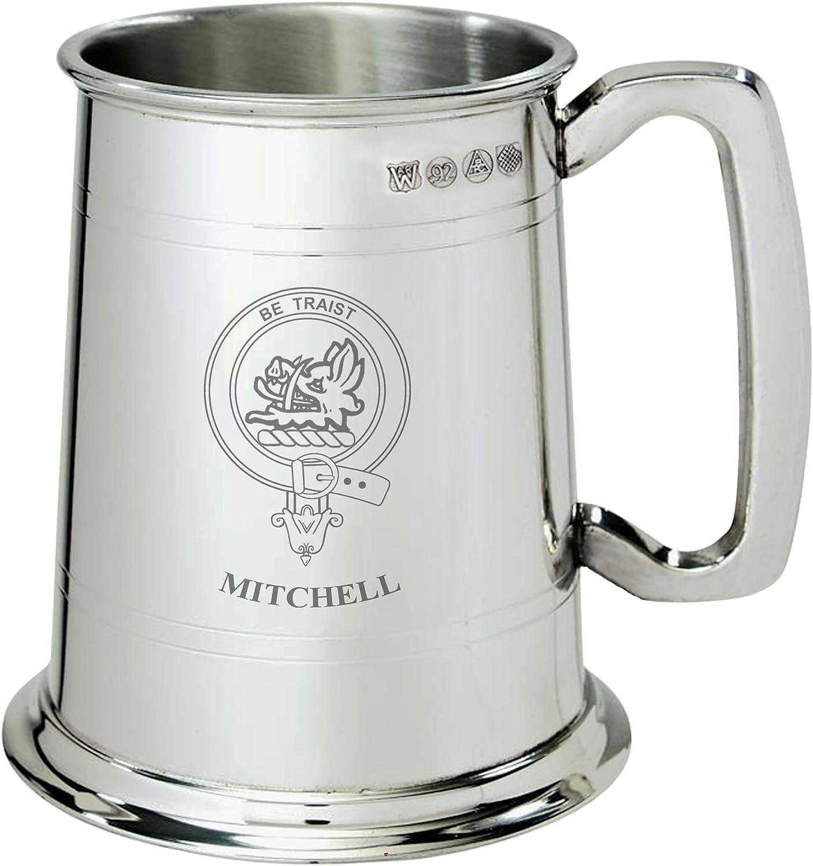 Mitchell Clan Crest Tankard 1 Classic Store Pewter Pint
