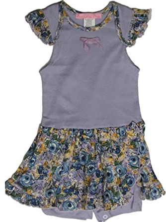 d5bb043c293 Amazon.com  Everyday Nay Girls Baby Romper 24 Months Purple Floral ...