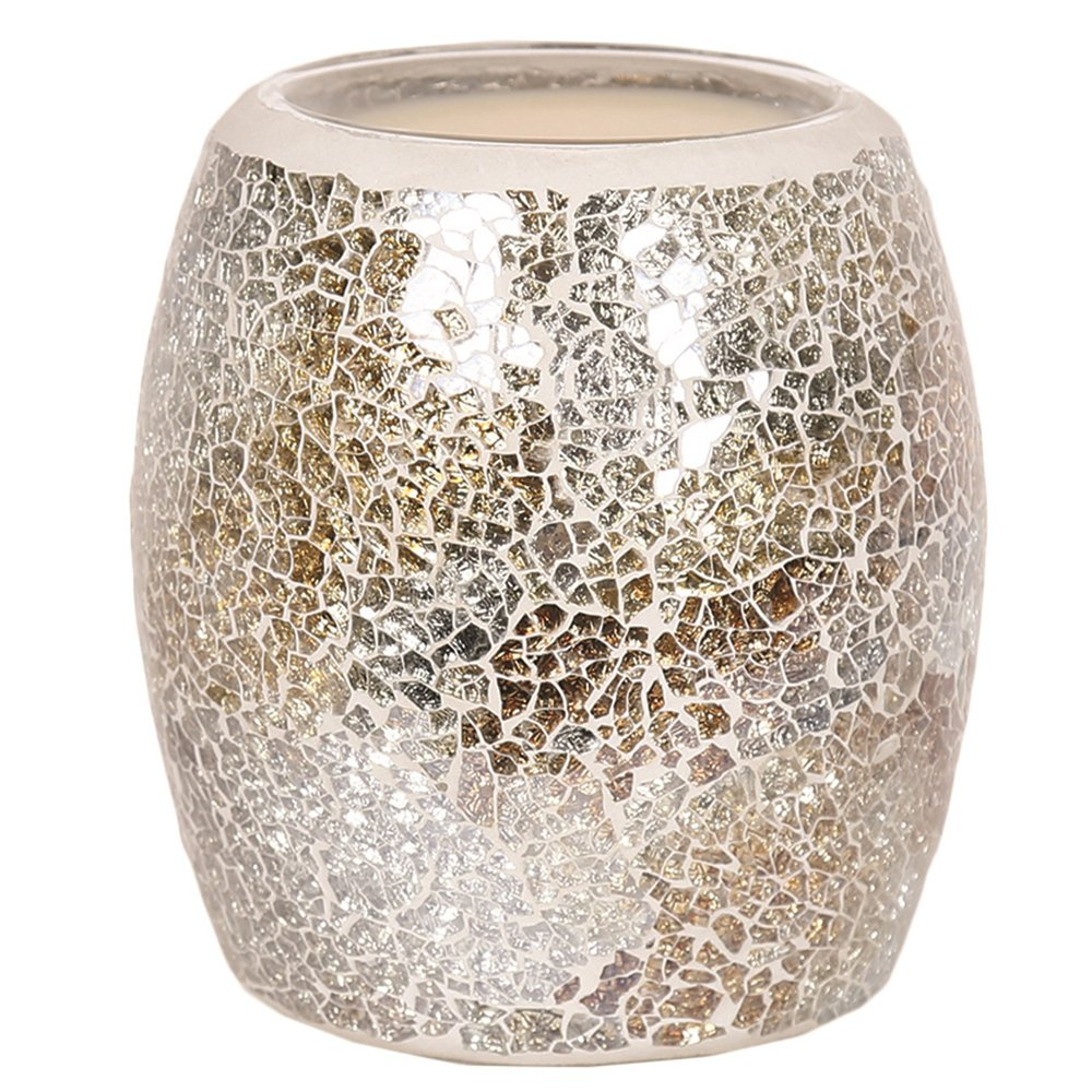 Astin of London - Aroma Accessories Electric Gold & Silver Crackle Wax Tart Melt Burner Lamp Hand Crafted Aroma Warmer