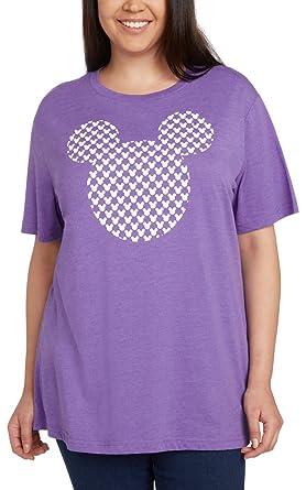 1d4e4a7ac8e Amazon.com  Disney Women s Plus Size T-Shirt Mickey Mouse Icon Print ...