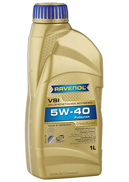 Amazon.com: Ravenol J1A1538 VSI 5W-40 Fully Synthetic Motor Oil (1 Liter): Automotive