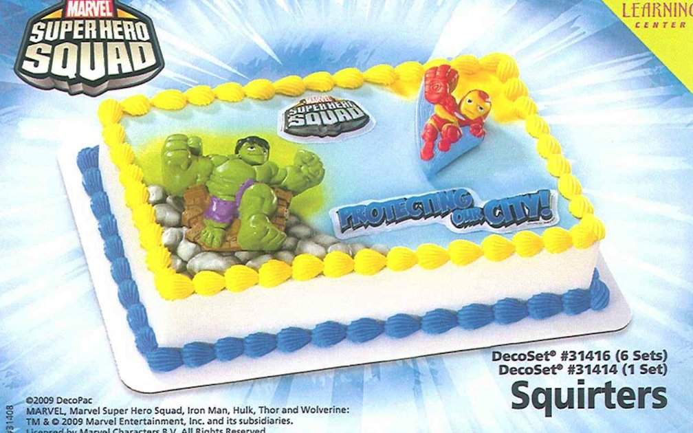 Amazon Marvel Super Heroes Birthday Cake Decoration Kit Home