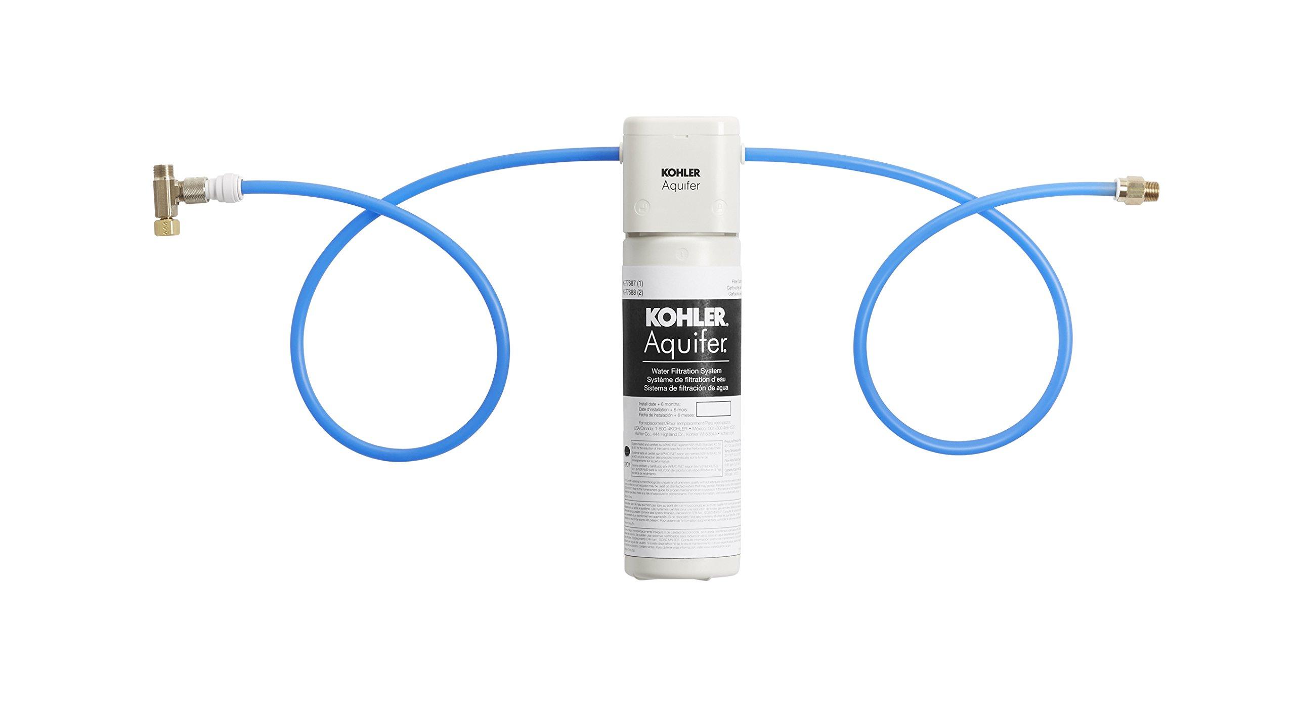KOHLER 77685-NA Aquifer Single Cartridge Water Filtration System by Kohler