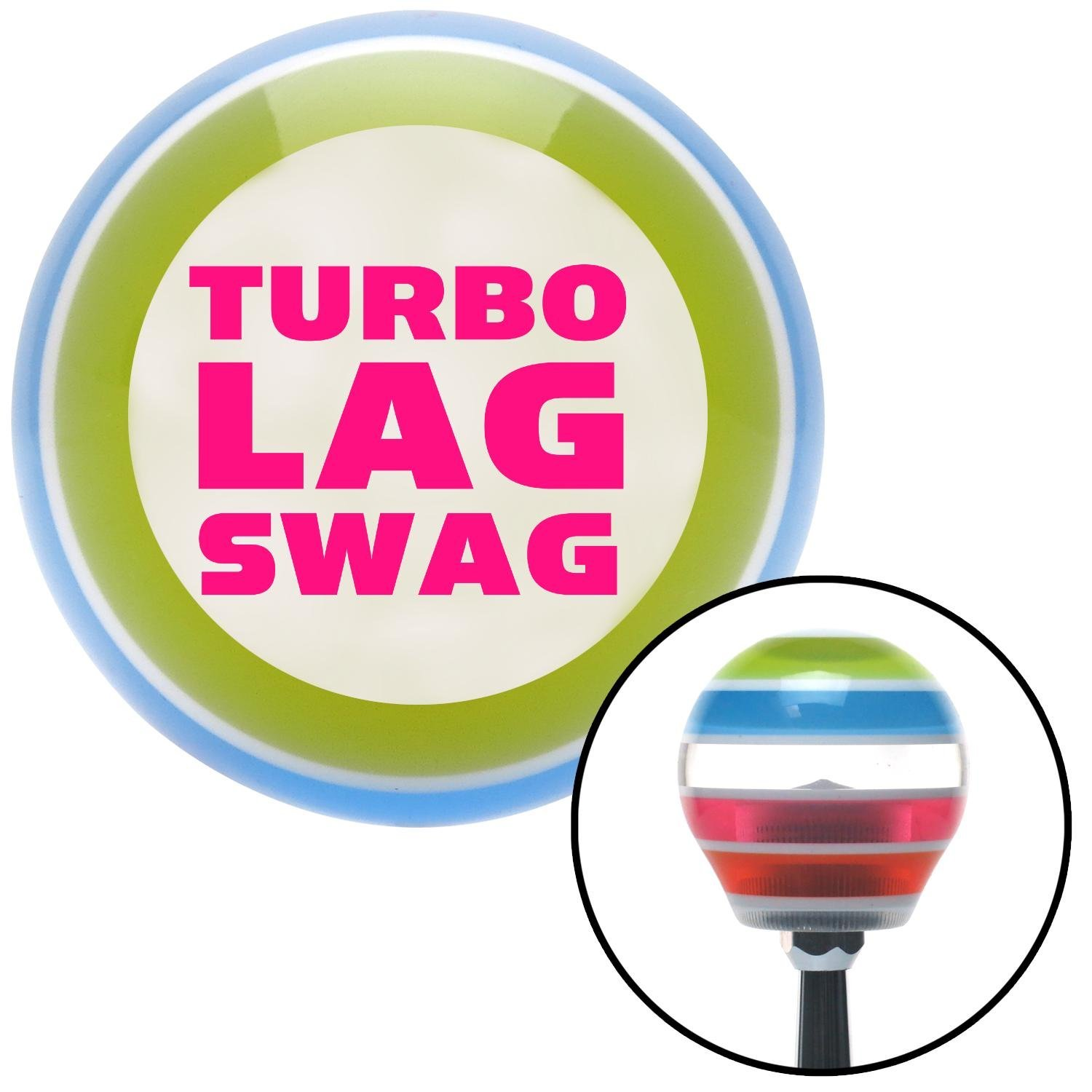 American Shifter 137952 Stripe Shift Knob with M16 x 1.5 Insert Pink Turbo Lag Swag