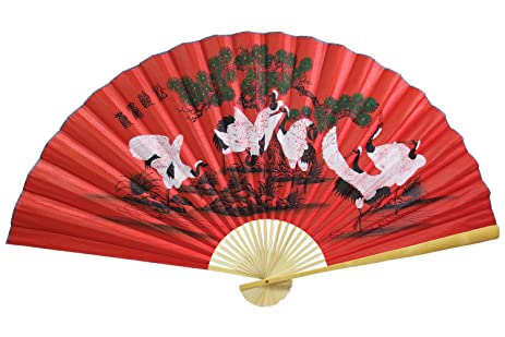 Oriental Feng Shui Wall Fan | Asian Wall Decor 35u0026quot; Large Wall Fan  (Japanese