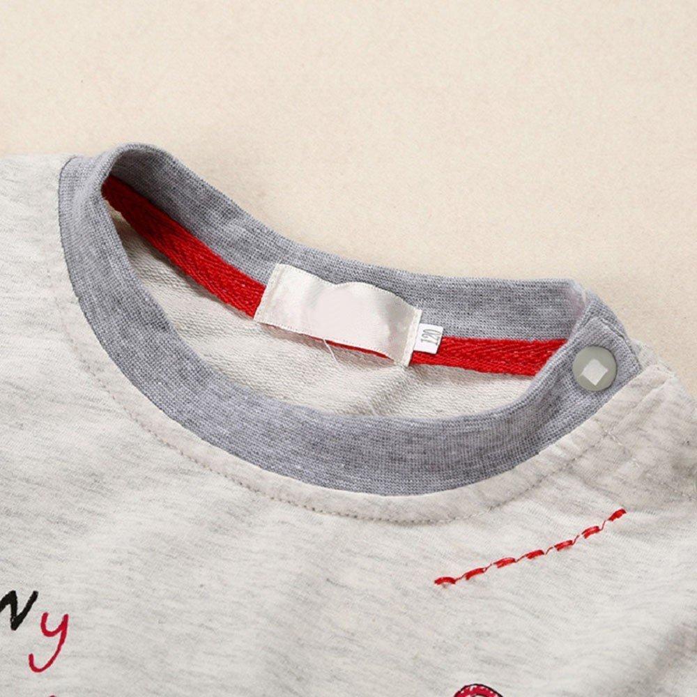 Amazon.com: Lurryly 2 piezas de ropa de bebé recién nacido + ...