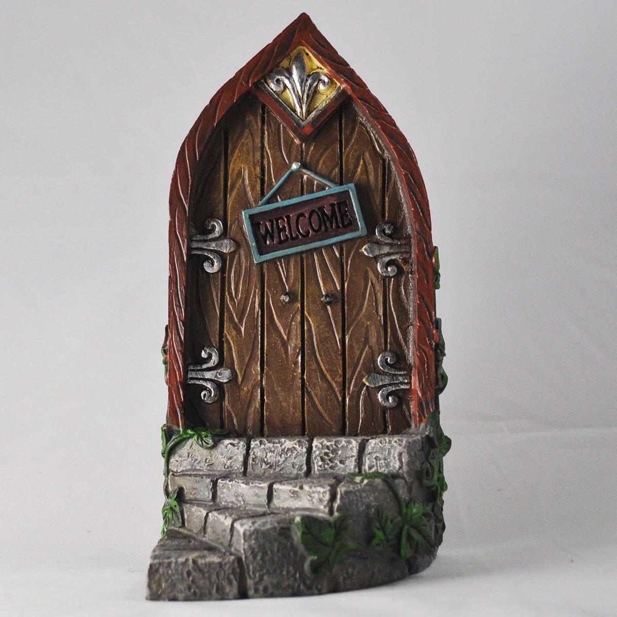 Fairy door curved step golden metalwork by fiesta studios for Amazon uk fairy doors