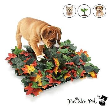 Tee-Moo - Alfombrilla para Perros con diseño de Hojas de Arce Artificiales, Manta