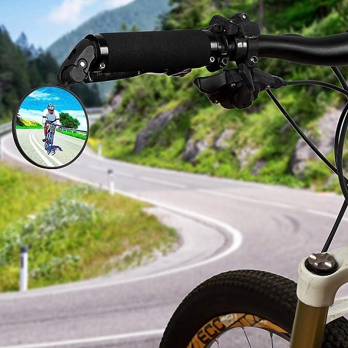 retroviseur pour Velo retroviseur Velo Electrique Tvs Sport v/élo Miroir Cycle miroirs pour v/élos Cycle miroirs pour v/élos de Route V/élo miroirs