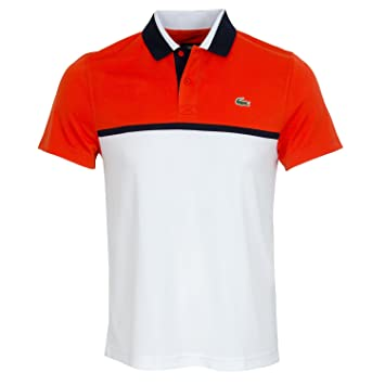 Manches Lacoste Manches Polo CourtesHommeWeissorangeSports CourtesHommeWeissorangeSports Polo Polo Manches Lacoste Lacoste dtChQxsr