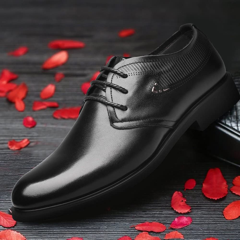 Classic Mens Shoes Formal Genuine Leather Soft Sole Flats Oxfords for Gentlemen,Very Stylish Color : Black, Size : CN24