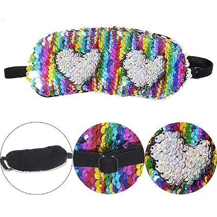 Máscara de sirena para dormir con lentejuelas reversibles para mujeres y niñas