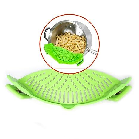 Escurridor de Silicona Ajustable GAINWELL- Escurre alimentos durante la cocción - Montar 16 cm a