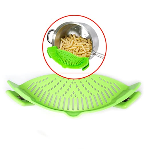 29 opinioni per GAINWELL Scolapasta Apri e Chiudi di silicone per alimenti con fermo a clip-