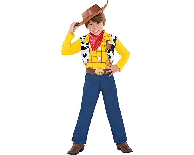 party city toy story woody halloween costume for toddler boys 3 4t with