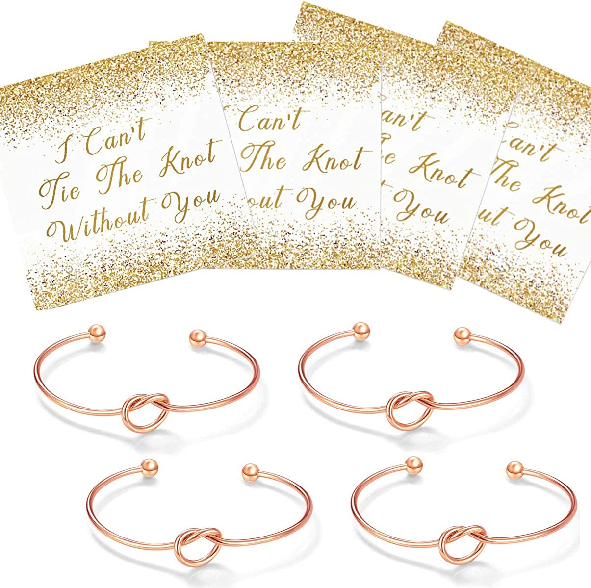 10 I Cant Tie The Knot Without You Bracelets -Set of 1 7 4 Bridesmaid Gifts 6 5