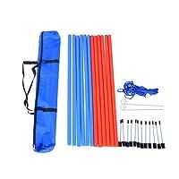 PawHut Pet Agility Training Equipment Dog Play Run Jump Obedience Training Set Adjustable (Poles)