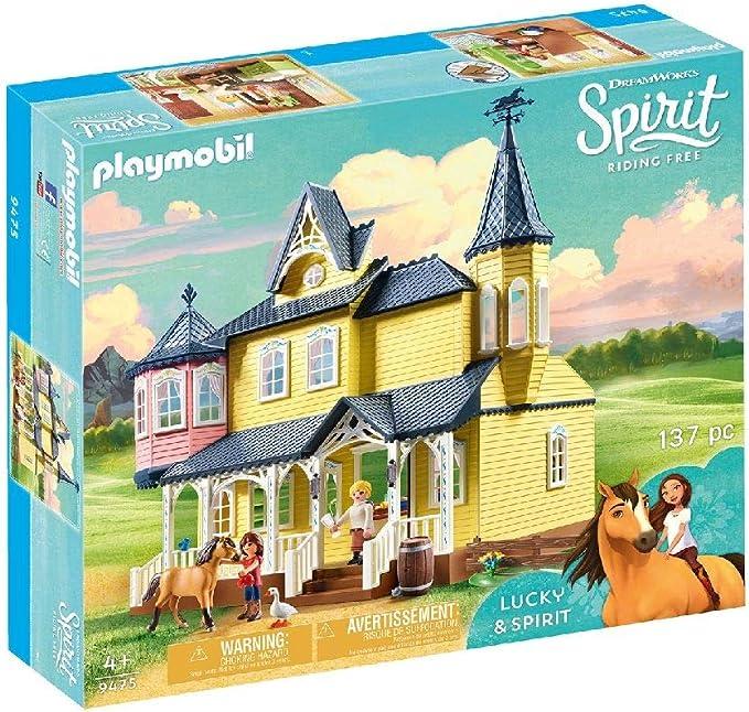 PLAYMOBIL DreamWorks Spirit Casa de Fortu, a Partir de 4 Años (9475): Amazon.es: Juguetes y juegos