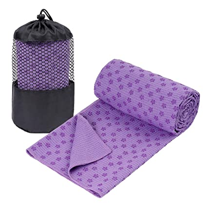92104c73a6 Galsports Non Slip Hot Yoga Towel (Multiple Colors), Skidless Waffle  Texture, 100% Absorbent Odorless Microfiber, Standard Sized 24''x72'' Mat  Towel, ...