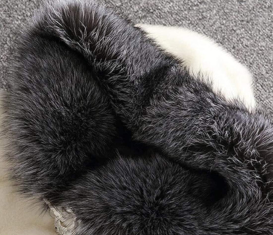 ouxiuli Womens Luxury Faux Fur Parka Coat Trech Jacket Outerwear Hoodie Overcoat