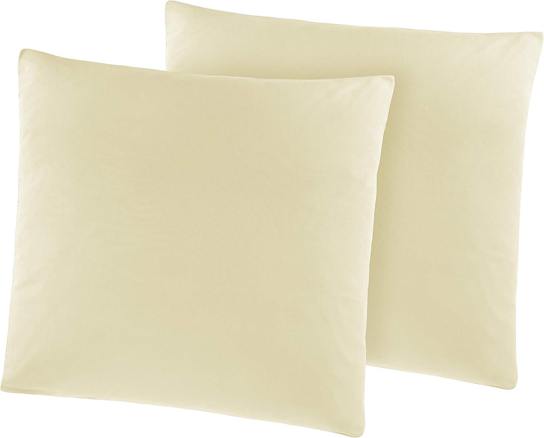 40 x 40 cm, bianco Pacco doppio federe ca Federa con cerniera /ÖKO-TEX STANDARD 95 g//m/² Set da 2 federe in microfibra