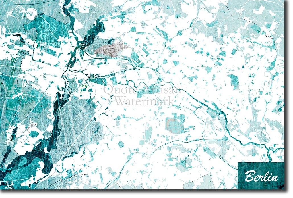 Berlin Germany World Map.Amazon Com Introspective Chameleon Berlin Germany Original Map