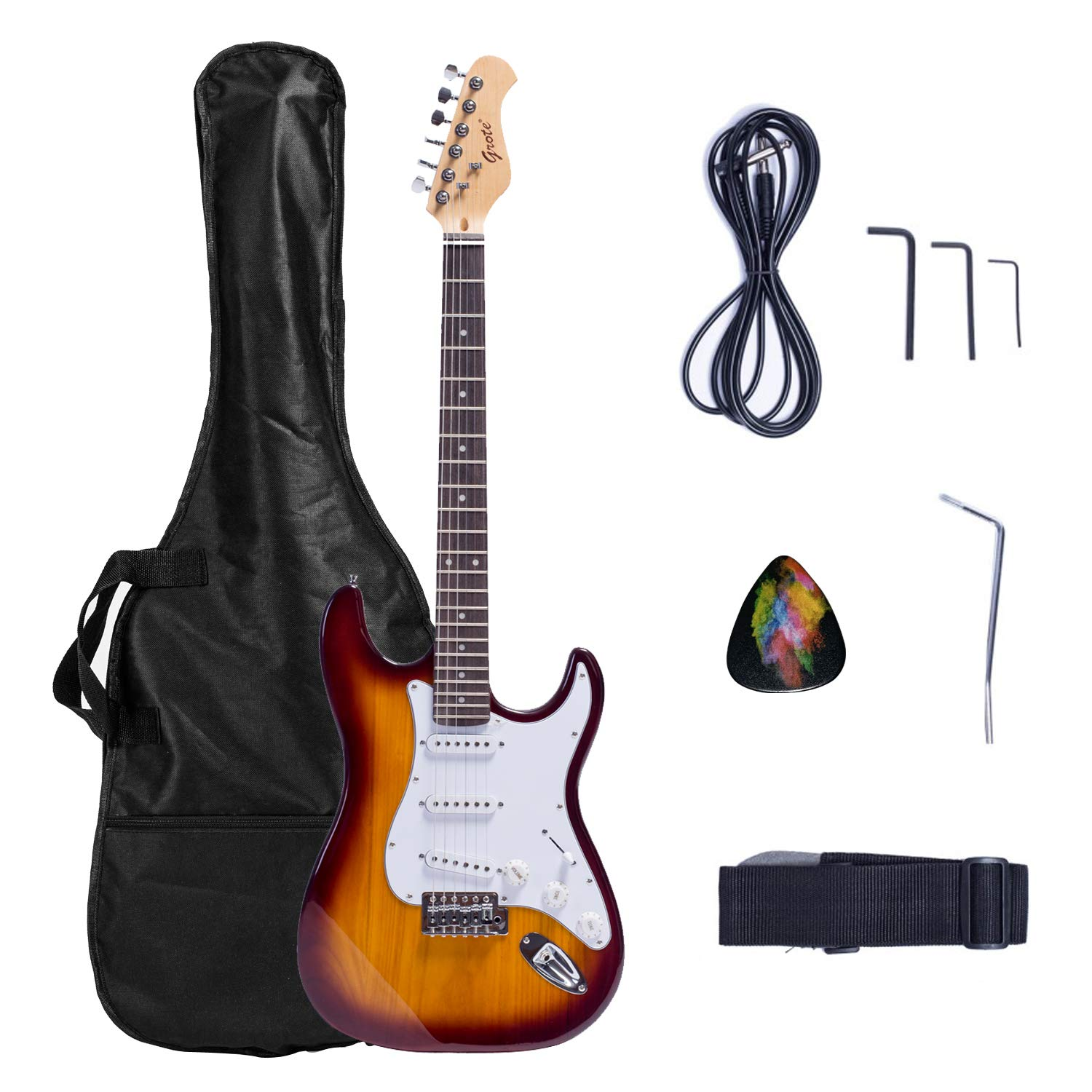 Grote Solid Body Electric Guitar Classic Custom Guitar with Guitar Gigbag by Grote
