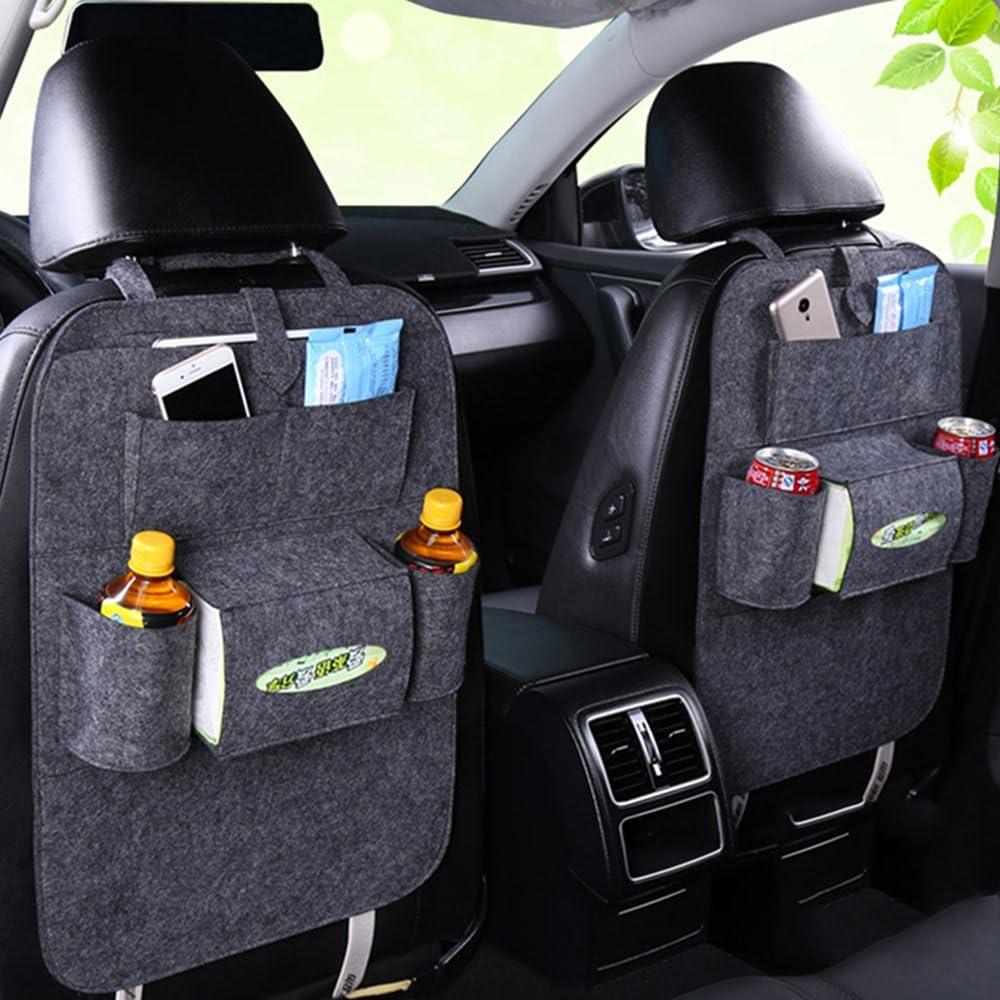 Fristee Lot de 2 Organiseur si/ège arri/ère de voiture pour enfant avec support pour tablette avec tapis de kick et si/ège cover-double Balck